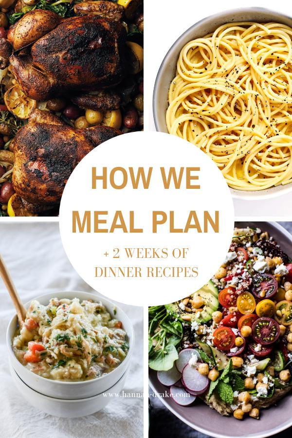 2 Weeks of Easy Dinner Recipes