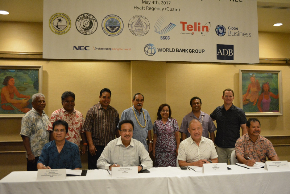 Signing ceremony in Guam