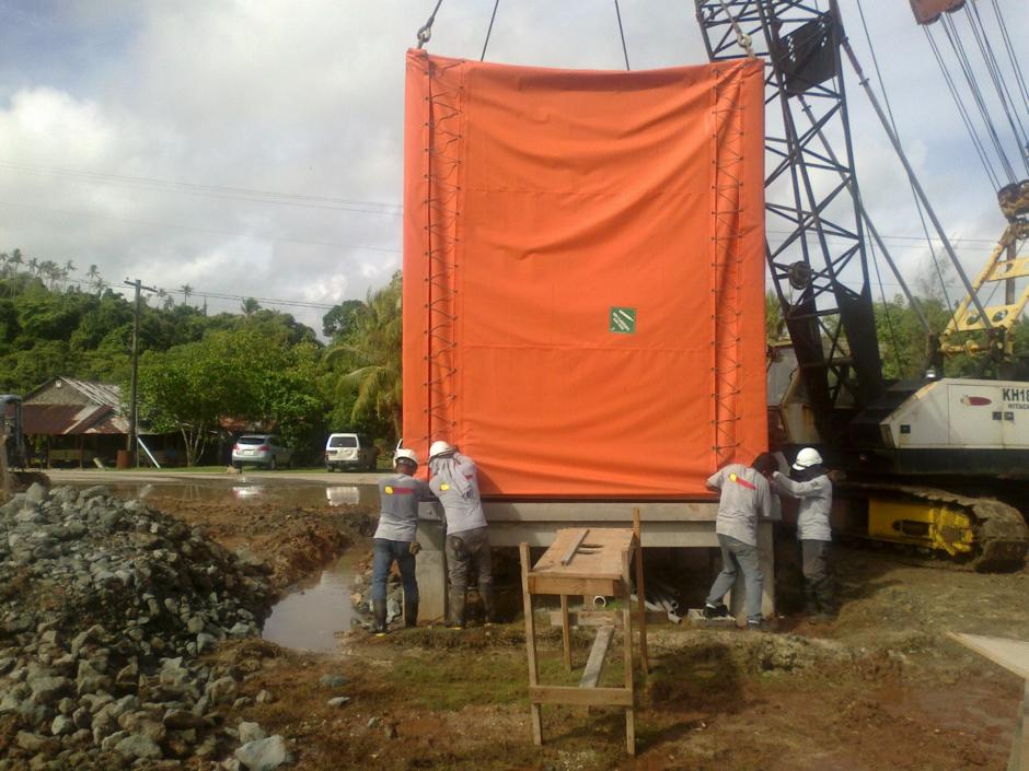 Unloading CLS Landing Station