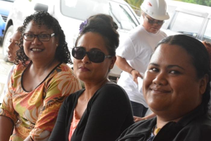 From the left, BSCC Director Clarinda Ziegler, ADB Palau Rep Alfonsa Koshiba and BSCC Director Johvanna Yaoch