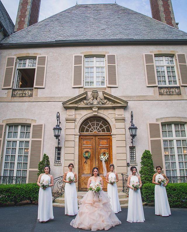 "When a bride calls and says ""I'm wearing blush, I want my girls to wear ivory."" 😍We loved dressing this bride's ladies in @hayleypaigeoccasions gowns! . . . . #ctbride #mysticbride #newportbride #ribride #bridalfitting #ido #sayyes #engaged #engagement #sayyestothedress #nebrideinsta #shoplocal #bridalaccessories #weddinggown #junebugweddings #photobugcommunity #heyheyhellomay #wedphotoinspiration #thatsdarling #theknot #radlovestories #huffpostweddings #loverly #indiebride #rusticweddings"