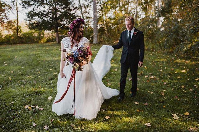 Just a little bit of magic. ✨. . . . . #love #wedding #elopement #floralarrangement #silkribbon #blacksuit #vineyard #flowercrown