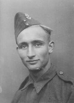 The next picture is the father Roelof Maarhuis who never knew his son as he died before the son was born, he is in his early twenties here.  You can find the complete story of the onderduiker in three previous stories  A true war story I, II, and III,  on this blog.