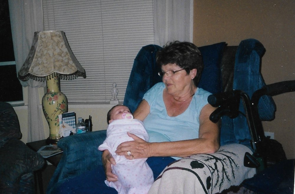 Anne still held our first great grandchild Deanne, daughter of Mark and Laura van Diermen
