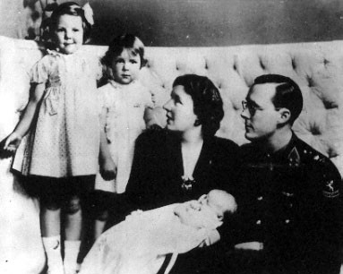 Princess Juliana and her three daughters
