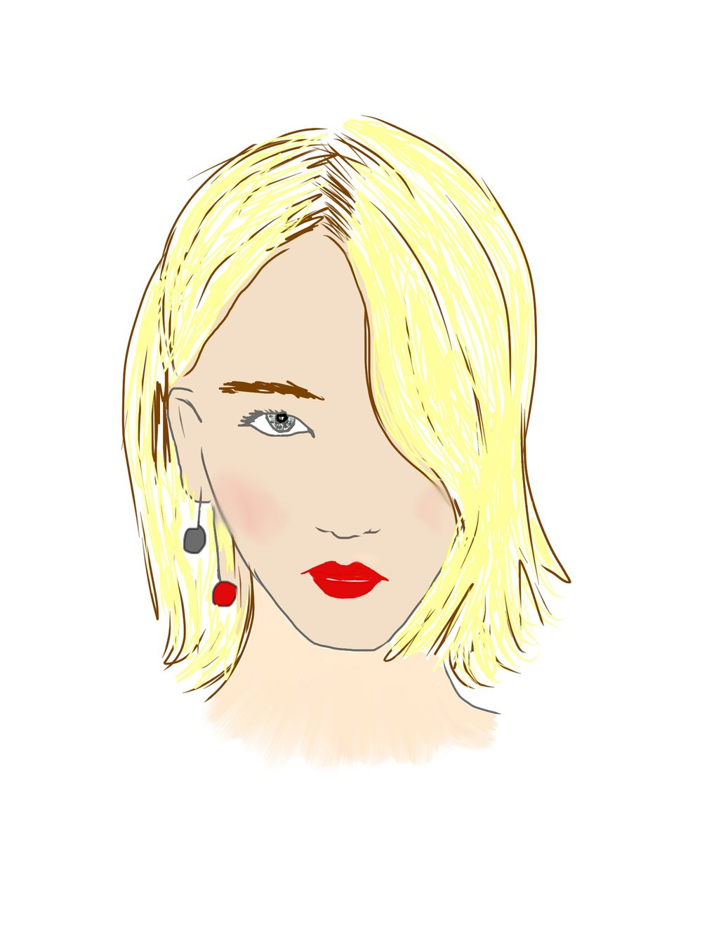 My portrait of the actress Jennifer Lawrence.