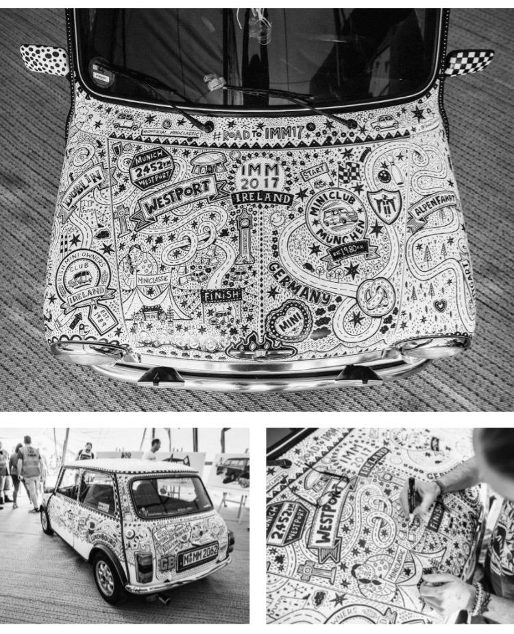Mini road trip doodle car by Steve Simpson.