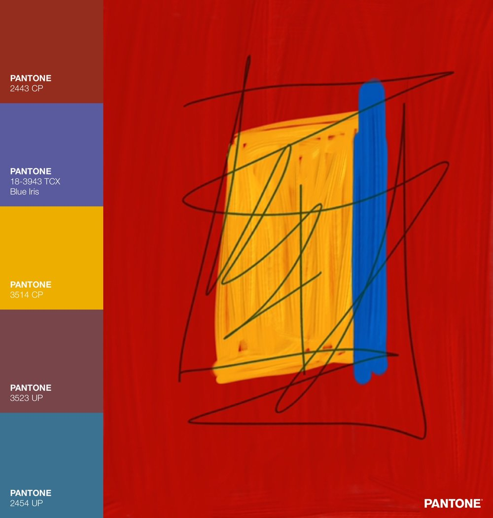 Abstract Painting in Red, Yellow, Blue
