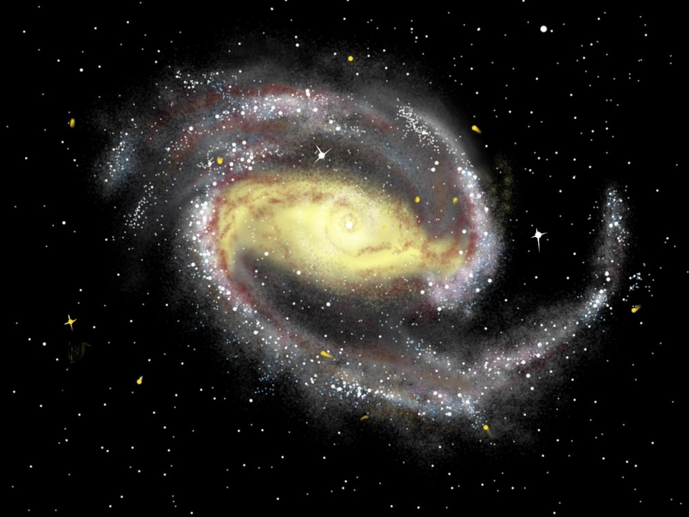 Painting of the Pinwheel Galaxy