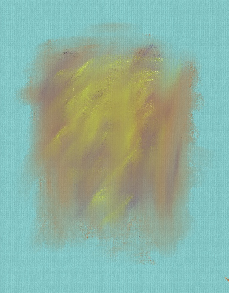 Aqua and Gold Abstract Painting