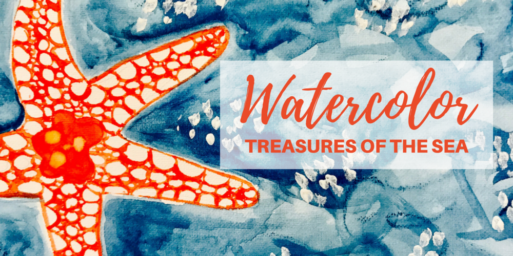 Watercolor Treasures of the Sea