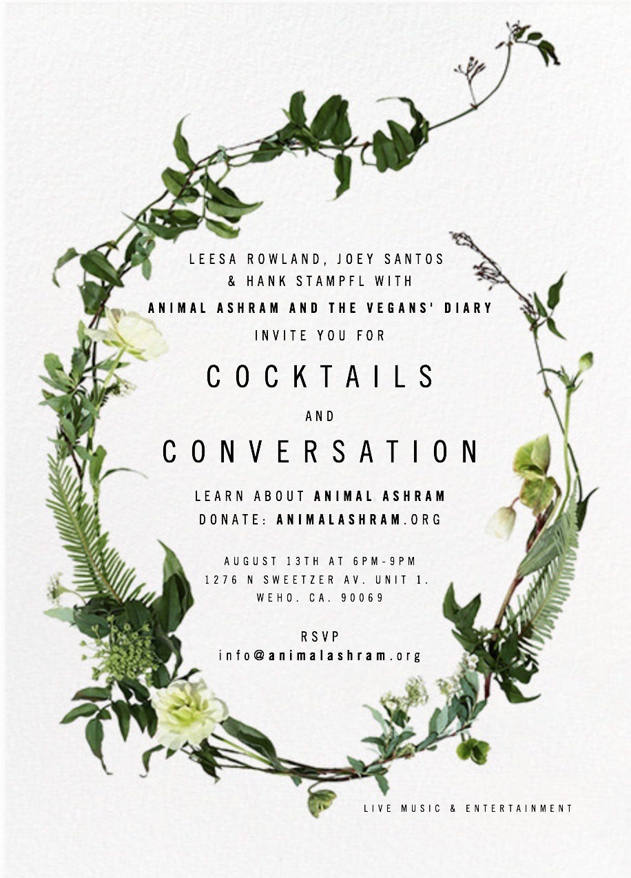 Animal Ashram Cocktails and Conversation
