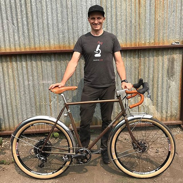 @bicyclemike86 was nice enough to post a picture of his fancy new #rossmancycles rat trap rando bike! #26notdead