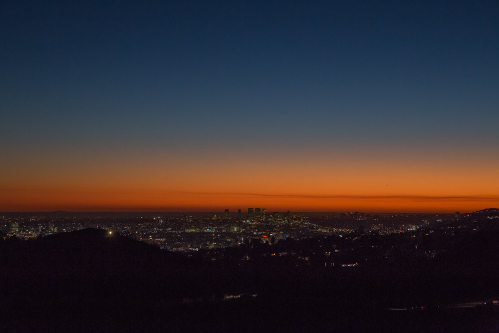 Sunset from near the Griffith Observatory