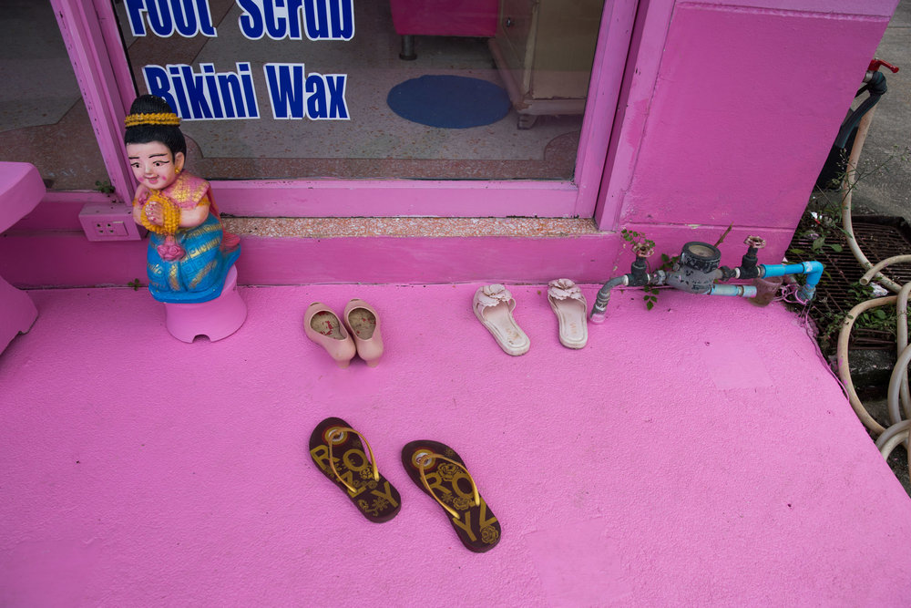 In Thailand, it is polite to remove your shoes before entering homes and some shops