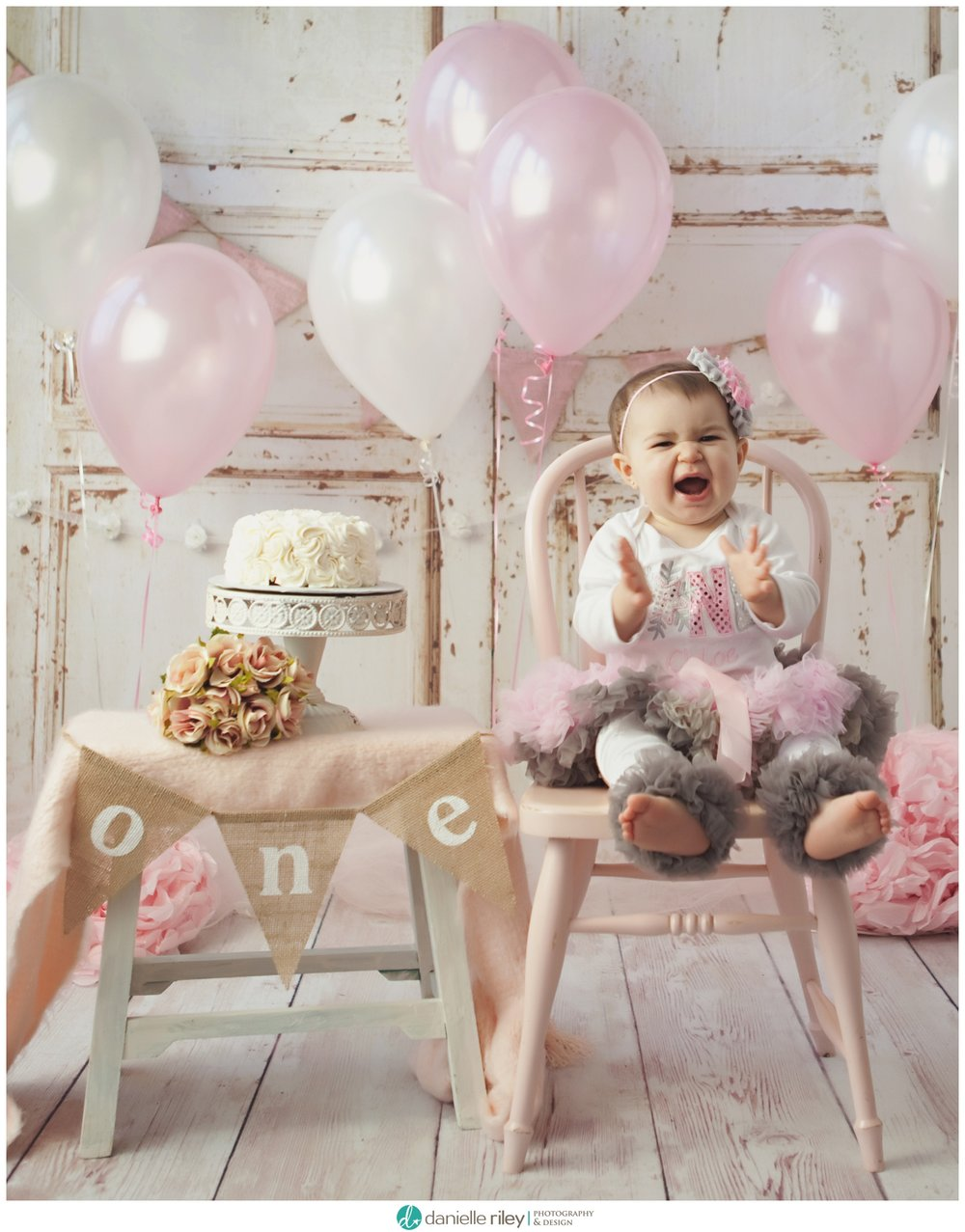 NJ Shabby First Birthday Photo Session