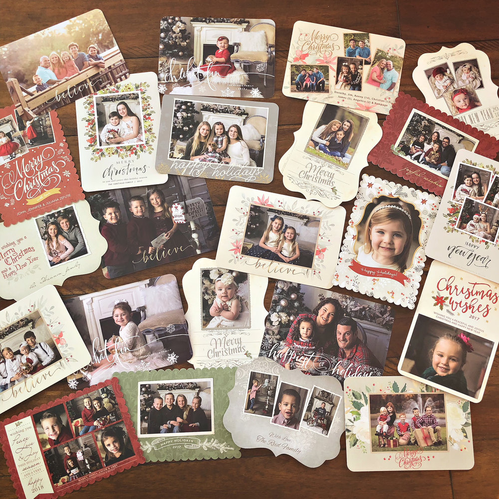 Here is a showcase of some of the holiday cards I designed last year for my families. I am so honored. There is so much time and love that goes into these cards every year.