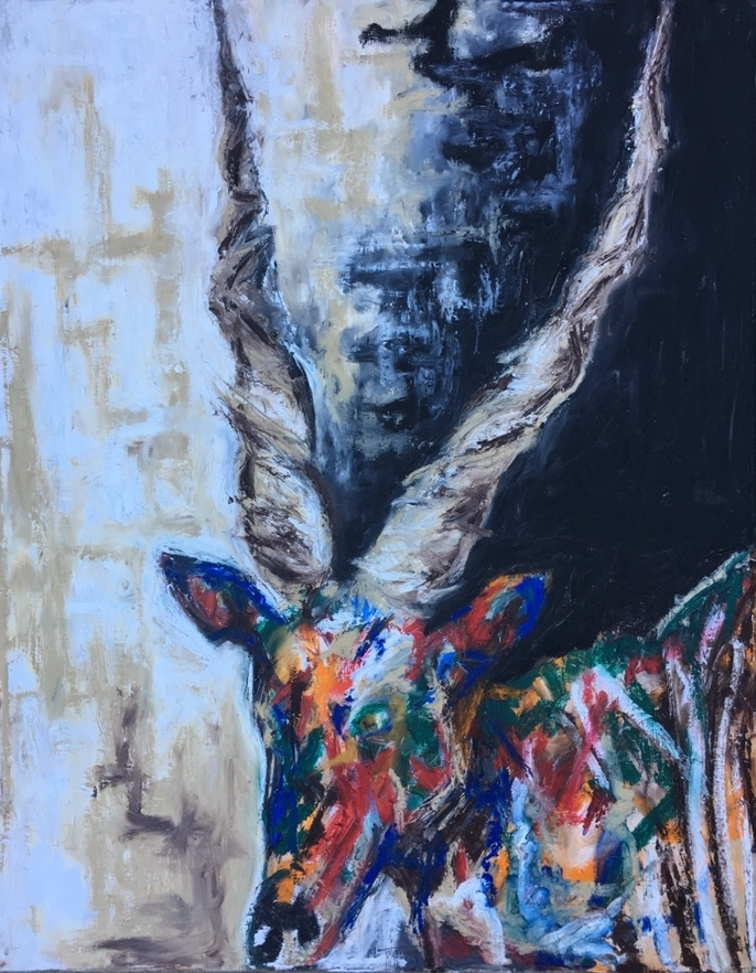 "EMERSON THE GIANT ELAND- 22.5"" x 25.5"""