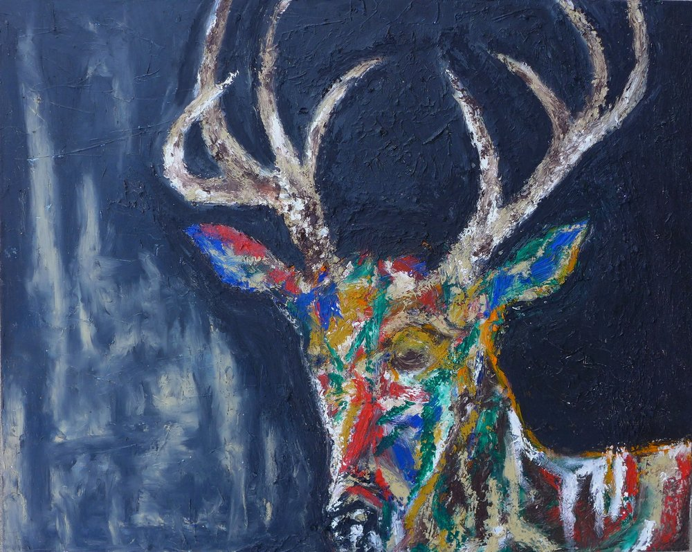 "HARRISON THE DEER 30"" x 24"""