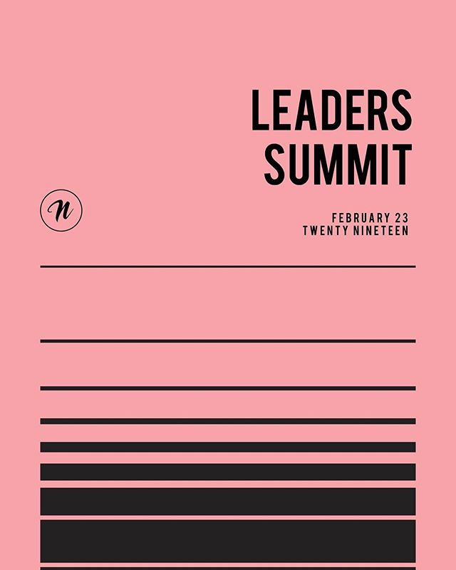 Leaders Summit 2019 is just 1 week away! This is an amazing day in the Nations Church calendar that is not to be missed.  Be there to hear vision and some exciting announcements straight from Ps Ken & Chrissy Lee.  RSVP via your email invite.  Registrations close this Sunday night at midnight. #leaderssummit