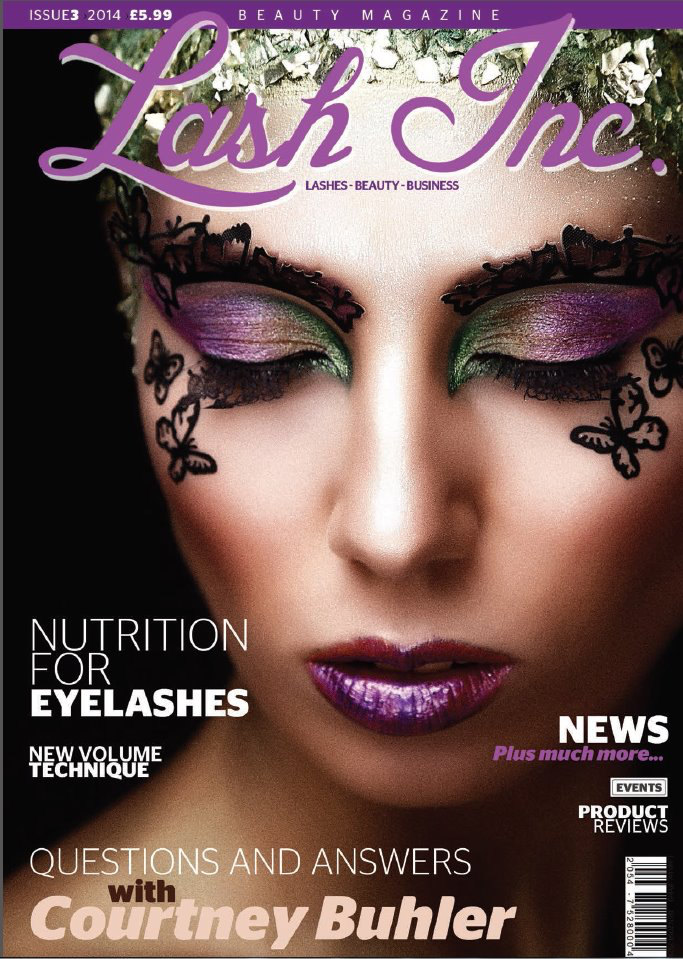 Marisol lash work featured in Lash Inc magazine 2014