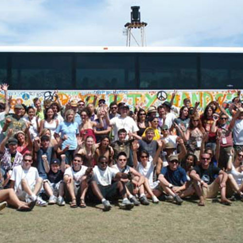 Dirty Hands Caravan:Traveling from Coachella to New Orleans, a select group of passionate individuals, sponsored by actor Sean Penn, sparked change across the country in a week-long effort to encourage people to get their hands dirty serving their community.