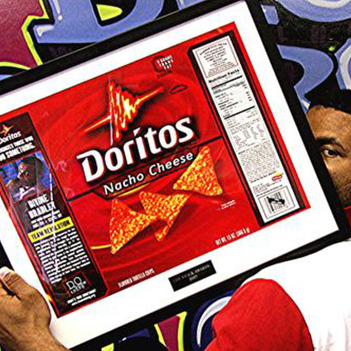 Doritos + Do Something:Honored as a change maker, Divine's face and story were on 1,000,000 Doritos bags to remind everyone that it is possible to do something to change your community.