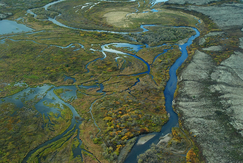 Aerial view of Bristol Bay watershed