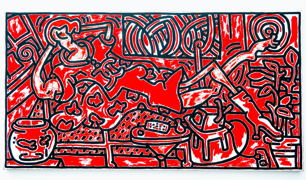 RED ROOM by Keith Haring