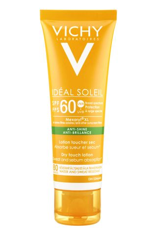 VICHY Ideal Soleil Anti-Shine Dry Touch Lotion SPF60 — Colleen Conroy Makeup & Hair.
