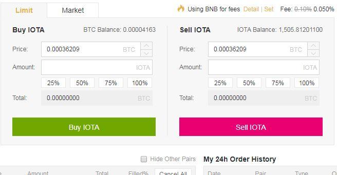 Trade Bitcoin for IOTA coin