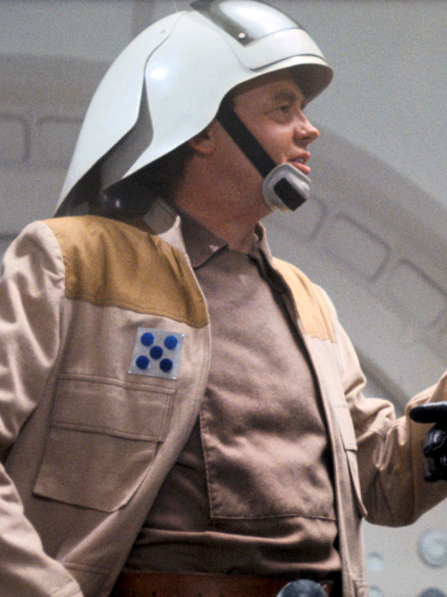 Captain Antilles between takes during filming of Star Wars