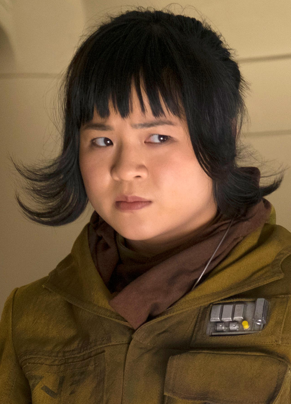 This is a copyrighted promotional image of Rose Tico. It is believed that the copyright holder has granted permission for use under the fair use provision of United States copyright law. Source: The Last Jedi: With Finn and Rose, a 'big deal' is redeemed by 'a nobody' EW via Wookieepedia