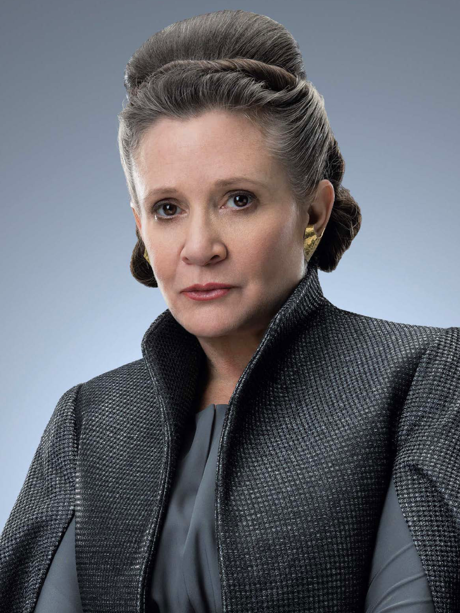 This is a copyrighted promotional image of Leia Organa. It is believed that the copyright holder has granted permission for use under the fair use provision of United States copyright law. Source: Star Wars: The Last Jedi - The Official Collector's Edition via Wookieepedia