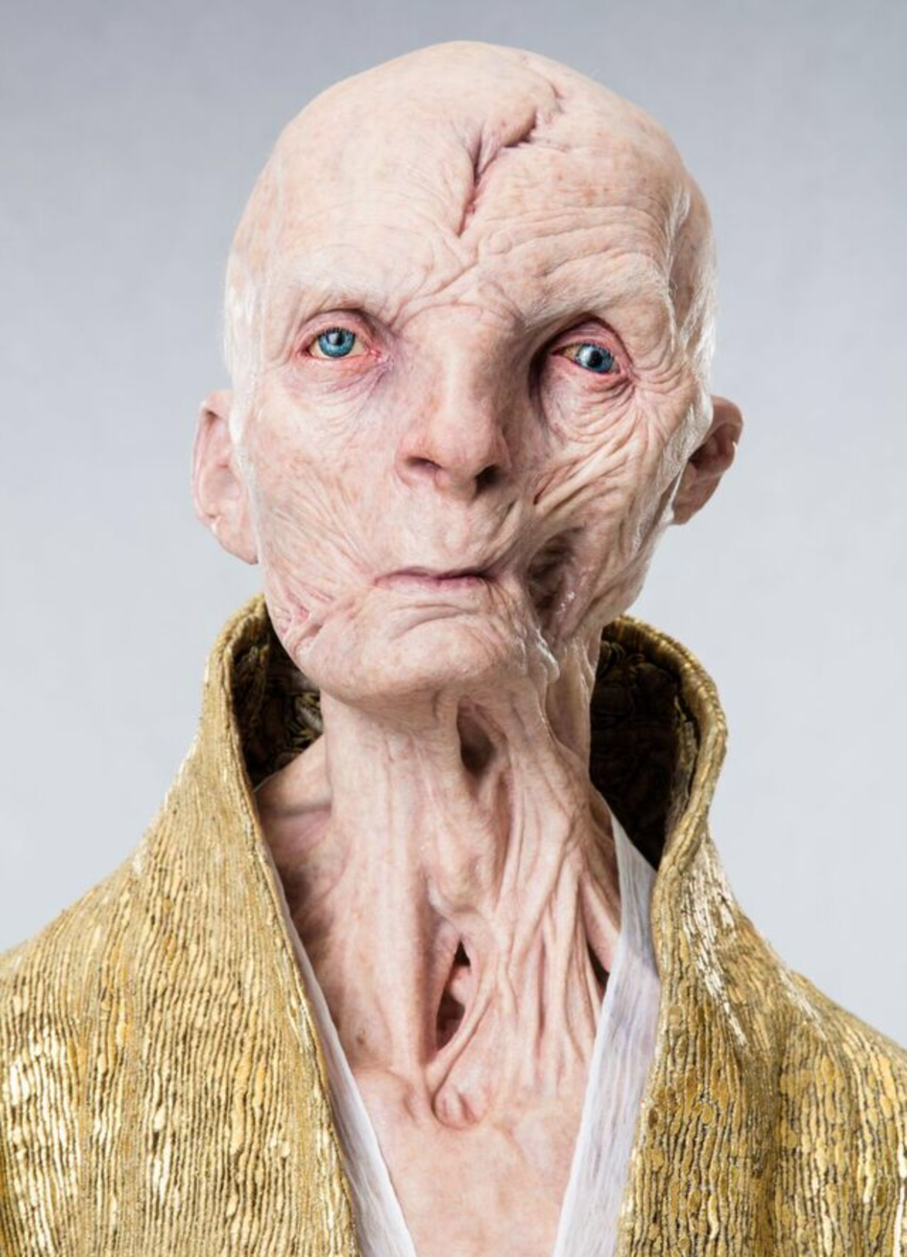 This is a copyrighted promotional image of Snoke. It is believed that the copyright holder has granted permission for use under the fair use provision of United States copyright law. Source: Empire Magazine via Wookieepedia