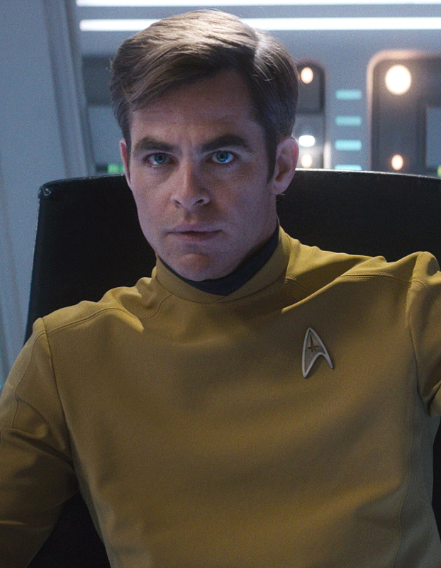 Command division uniform, male, 2263  Fair Use  - this image is copyrighted, but used here under  Fair Use  guidelines. Owner/Creator: Paramount Pictures and/or CBS Studios  Captain James Tiberius Kirk  Retreived via http://memory-alpha.wikia.com