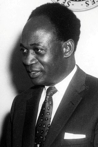 The Right Honorable Kwame Nkrumah, PC, the first prime minister and president of Ghana By Abbie Rowe - John F. Kennedy Presidential Library and Museum, JFKWHP-AR6409-A, Public Domain, https://commons.wikimedia.org/w/index.php?curid=12748861
