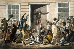 Black Methodists Holding A Prayer Meeting - Svinin