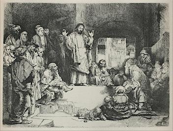 Rembrant, Jesus Preaching; 'La Tombe'.jpg