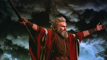 216293 Charlton Heston as Moses The Ten Commandments 1956 Paramount