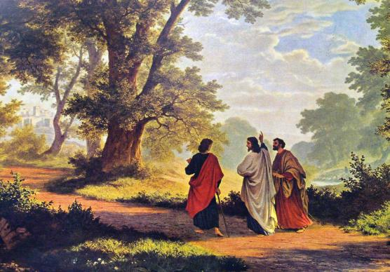 The Road to Emmaus by Robert Zund (1877).