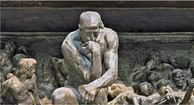 Thinker at the Gates of Hell - Auguste Rodin.