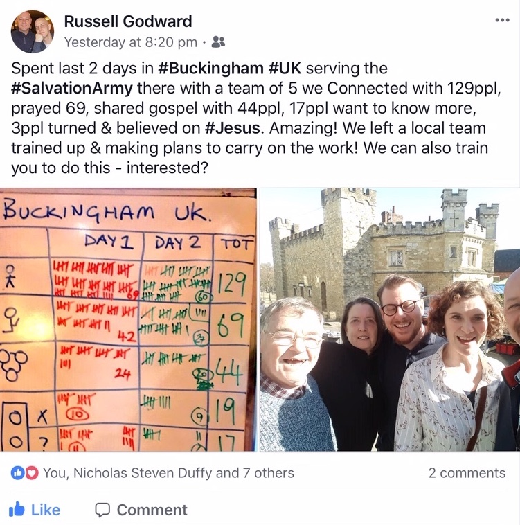 Connect with Russell Godward on FaceBook