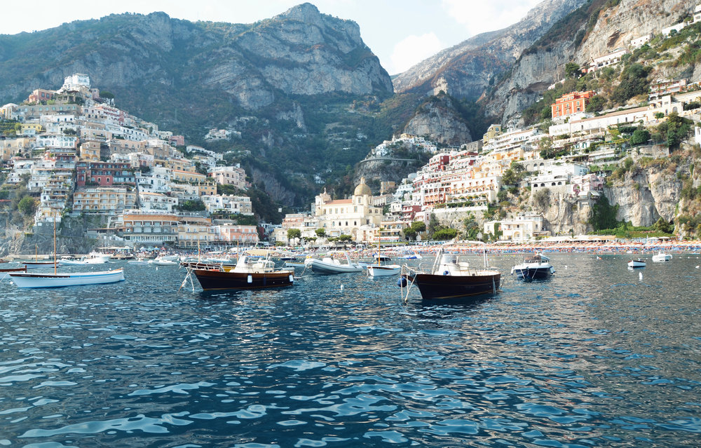 POSITANO CAPTURED FROM OUR BOAT