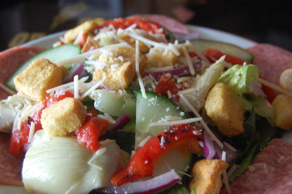Cathouse Pizza Salad 1