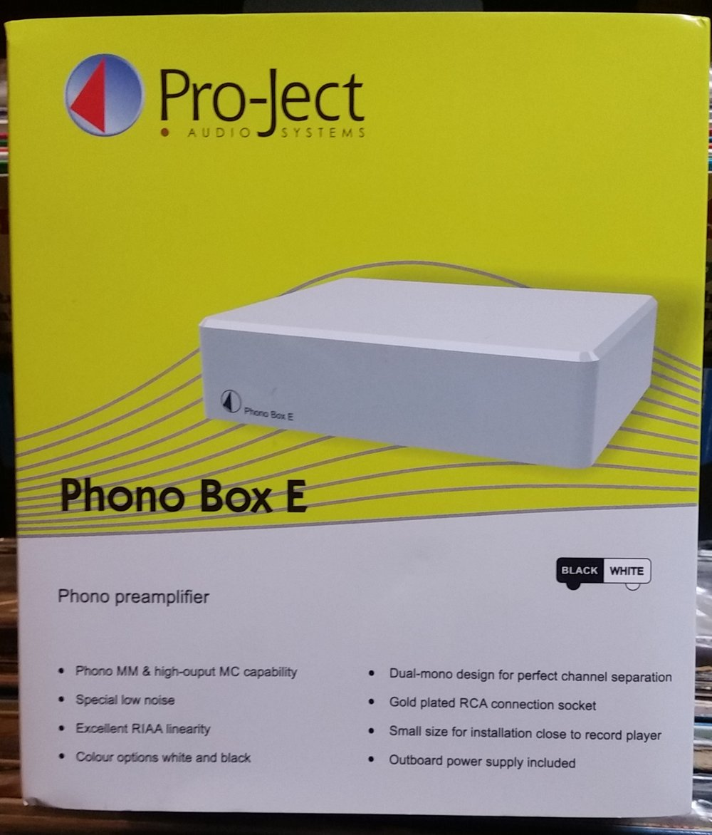 "Pro-ject Phono Box E Pre-Amplifier   MM/MC Phono preamp with line output  Preamplifier for MM or MC with switch on rear panel  NEW! ""green"" DC power supply (<1watt standby power)  Precise RIAA equalisation  Low noise ICs  Output stage with ultra-low impedance  Gold-plated RCA sockets  Small size for installation near record player   Brand New $125 Each"