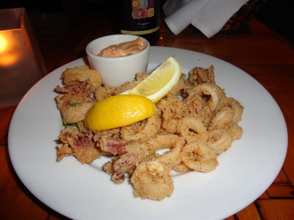 Flash Fried Calimari: Chipotle Aioli Sauce