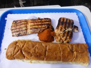 Shark meat and butter bread