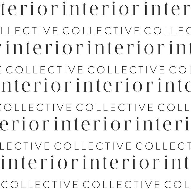 A logo pattern we have been crushing on since the day we made it! Simple, sophisticated and strong! @interiorcollective_ct ✨  If you are looking to brand your business contact us at hello@conceptualcreatives.com