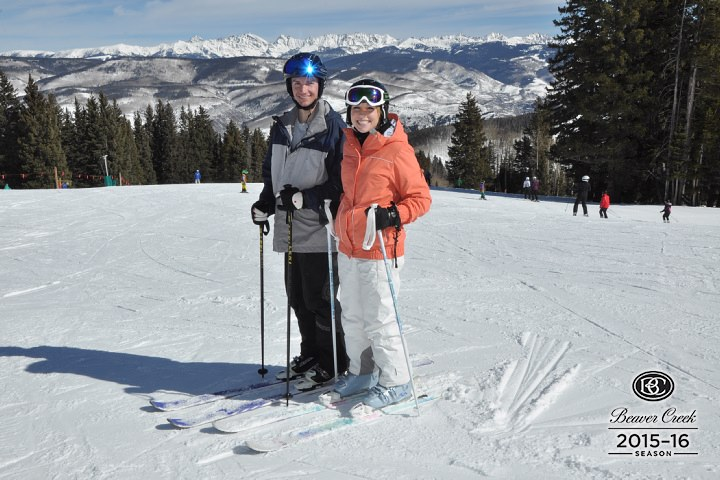 Skiing for the first time in our lives was so much fun!